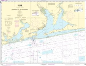 thumbnail for chart Pensacola Bay and approaches