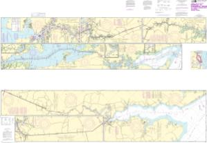 thumbnail for chart Intracoastal Waterway Norfolk to Albemarle Sound via North Landing River or Dismal Swamp Canal