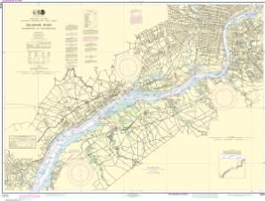 thumbnail for chart Delaware River Wilmington to Philadelphia