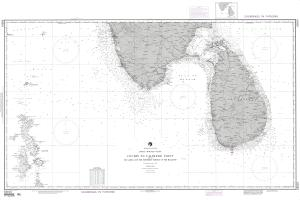 thumbnail for chart Cochin to Calimere Pt, with Sri Lanka and the northern portion of the