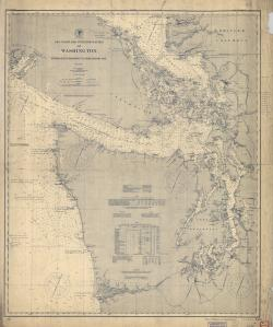 thumbnail for chart WA,1900,Grays Harbor to Semiahmoo Bay