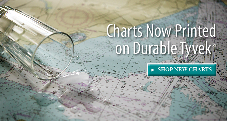 Durable Tyvek, foldable, water resistant charts