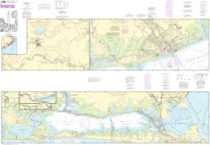 thumbnail for chart Intracoastal Waterway Galveston Bay to Cedar Lakes