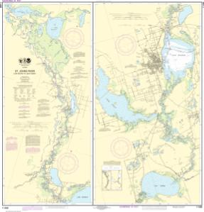 thumbnail for chart St. Johns River Lake Dexter to Lake Harney