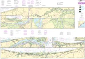 thumbnail for chart Intracoastal Waterway Myrtle Grove Sound and Cape Fear River to Casino Creek