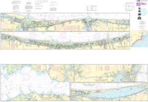 thumbnail for chart Intracoastal Waterway Neuse River to Myrtle Grove Sound