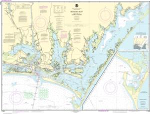 thumbnail for chart Beaufort Inlet and Part of Core Sound;Lookout Bight