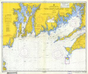 thumbnail for chart MA,1958, Marthas Vineyard To Block Island