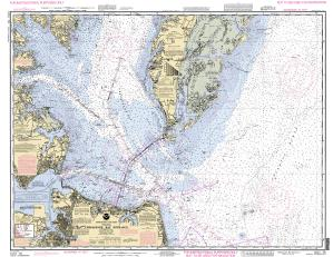 thumbnail for chart Chesapeake Bay Entrance Training Chart