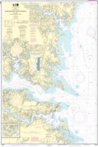 thumbnail for chart Chesapeake Bay Rappahannock River Entrance, Piankatank and Great Wicomico Rivers