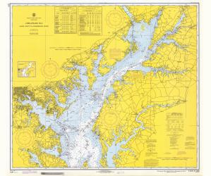 thumbnail for chart MD,1970,Chesapeake Bay Sandy Point To Susquehanna River