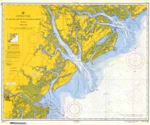 thumbnail for chart SC,1957,St. Helena Sound to Savannah River