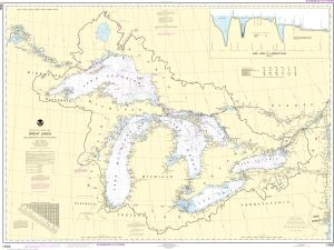 Noaa Nautical Chart 14500 Great Lakes Lake Champlain To Of The Woods