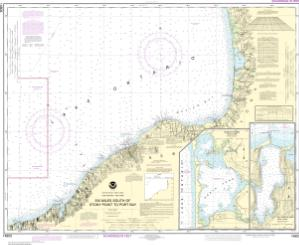 thumbnail for chart Six Miles south of Stony Point to Port Bay;North Pond;Little Sodus Bay