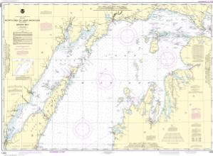 Thumbnail For Chart North End Of Lake Michigan Including Green Bay