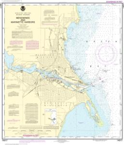 thumbnail for chart Menominee and Marinette Harbors