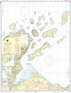 thumbnail for chart Apostle Islands, including Chequamegan Bay;Bayfield Harbor;Pikes Bay Harbor;La Pointe Harbor