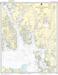 thumbnail for chart Hecate Strait to Etolin Island, including Behm and Portland Canals