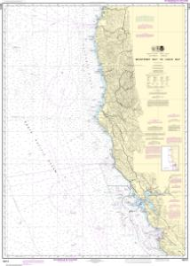 thumbnail for chart Monterey Bay to Coos Bay