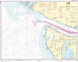 thumbnail for chart Approaches to Strait of Juan de Fuca Destruction lsland to Amphitrite Point