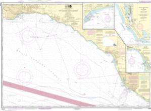 thumbnail for chart Port Hueneme to Santa Barbara;Santa Barbara;Channel Islands Harbor and Port Hueneme;Ventura