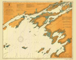 thumbnail for chart NY,1907, Lake Ontario Roung Island