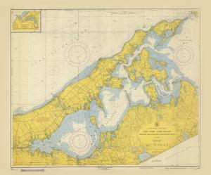 thumbnail for chart NY,1952, Shelter Island Sound and Peconic Bay