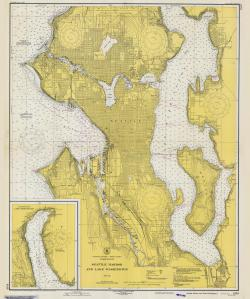 thumbnail for chart WA,1948,Seattle Harbor and Lake Washington