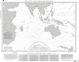 thumbnail for chart Great Circle Sailing Chart of the Indian Ocean