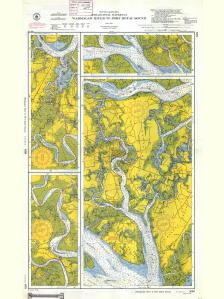 thumbnail for chart SC,1945,Intracoastal Wterway