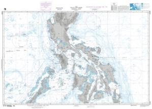 Philippines Central Part Bathymetric Chart