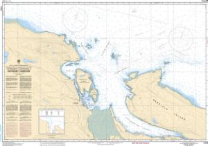 thumbnail for chart Approaches to/Approches à Nanaimo Harbour