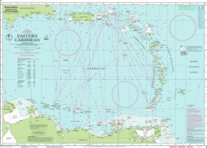 Caribbean Water Depth Map Nautical Charts Online   Chart Imray 1, Eastern Caribbean